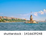 maiden's tower in middle of... | Shutterstock . vector #1416639248