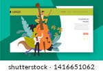 violoncello playing classical... | Shutterstock .eps vector #1416651062