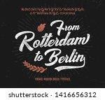 vintage brush script modern... | Shutterstock .eps vector #1416656312