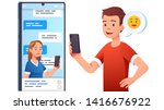 modern communication concept.... | Shutterstock .eps vector #1416676922
