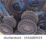 fractal 3d background  abstract ...   Shutterstock . vector #1416685415