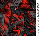 abstract seamless grunge... | Shutterstock .eps vector #1416685505