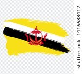 flag of  brunei from brush...