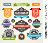 vector vintage sale labels and... | Shutterstock .eps vector #141670492