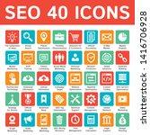 seo icons set. vector design.  | Shutterstock .eps vector #1416706928