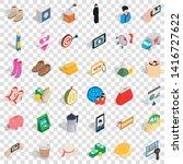 bikini icons set. isometric...   Shutterstock .eps vector #1416727622