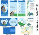 blueberry template design  ... | Shutterstock .eps vector #141673912