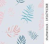 vector beach seamless pattern... | Shutterstock .eps vector #1416741368