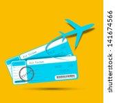 illustration of flight ticket... | Shutterstock .eps vector #141674566