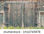 Old Wooden Door To The Village...