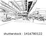brighton beach. new york. usa....   Shutterstock .eps vector #1416780122