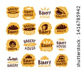bread and bakery products logos ... | Shutterstock .eps vector #1416785942