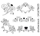 elegant romantic swirls   Shutterstock . vector #141678655