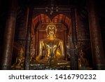Buddha Statue In Wat Phra That...