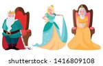 princess with queen and king on ... | Shutterstock .eps vector #1416809108