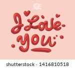 i love you. romantic sign. 3d... | Shutterstock .eps vector #1416810518