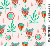 seamless pattern with... | Shutterstock . vector #1416811988
