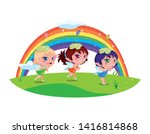 beautiful magic fairies with... | Shutterstock .eps vector #1416814868
