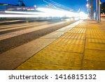 evening city traffic jam... | Shutterstock . vector #1416815132