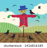 An Ineffective Scarecrow Stands ...
