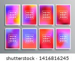 colorful gradient backgrounds... | Shutterstock .eps vector #1416816245