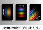 set of cover with colorful... | Shutterstock .eps vector #1416816248