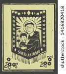 santo antonio saint anthony ... | Shutterstock .eps vector #1416820418