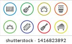 acoustic icon set. 8 filled... | Shutterstock .eps vector #1416823892