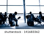 silhouettes of business people... | Shutterstock . vector #141683362