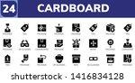 cardboard icon set. 24 filled...   Shutterstock .eps vector #1416834128