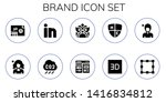 brand icon set. 10 filled brand ... | Shutterstock .eps vector #1416834812