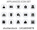 appliances icon set. 15 filled... | Shutterstock .eps vector #1416834878