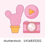 set of camera photographic with ...   Shutterstock .eps vector #1416835202