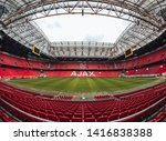 Amsterdam / Netherlands - May 2019: Johan Cruyff Arena preparing for the euro league match - stock photo