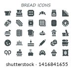 bread icon set. 30 filled bread ... | Shutterstock .eps vector #1416841655