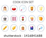 cook icon set. 15 flat cook... | Shutterstock .eps vector #1416841688