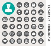 education icons set.... | Shutterstock .eps vector #141684766
