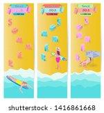 summer vacation ads template... | Shutterstock .eps vector #1416861668