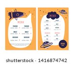 modern doodle kids menu  great... | Shutterstock .eps vector #1416874742