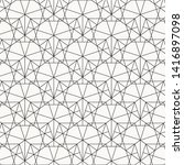 pattern black geometry of... | Shutterstock .eps vector #1416897098