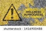 wellness in progress concept... | Shutterstock . vector #1416900488