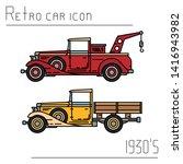color vector icon set american...   Shutterstock .eps vector #1416943982