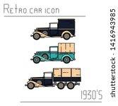 color vector icon set american...   Shutterstock .eps vector #1416943985