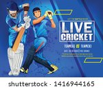 illustration of batsman in... | Shutterstock .eps vector #1416944165