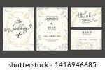 vintage luxury wedding...   Shutterstock .eps vector #1416946685
