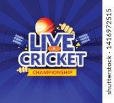 cricket championship batsman... | Shutterstock .eps vector #1416972515