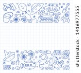 vector pattern with...   Shutterstock .eps vector #1416977555
