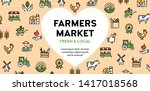 vector farmers market icon set. ...   Shutterstock .eps vector #1417018568