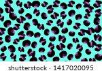 leopard print. animal skin... | Shutterstock .eps vector #1417020095