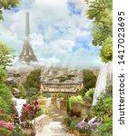 Beautiful View Paris From Eiffel - Fine Art prints